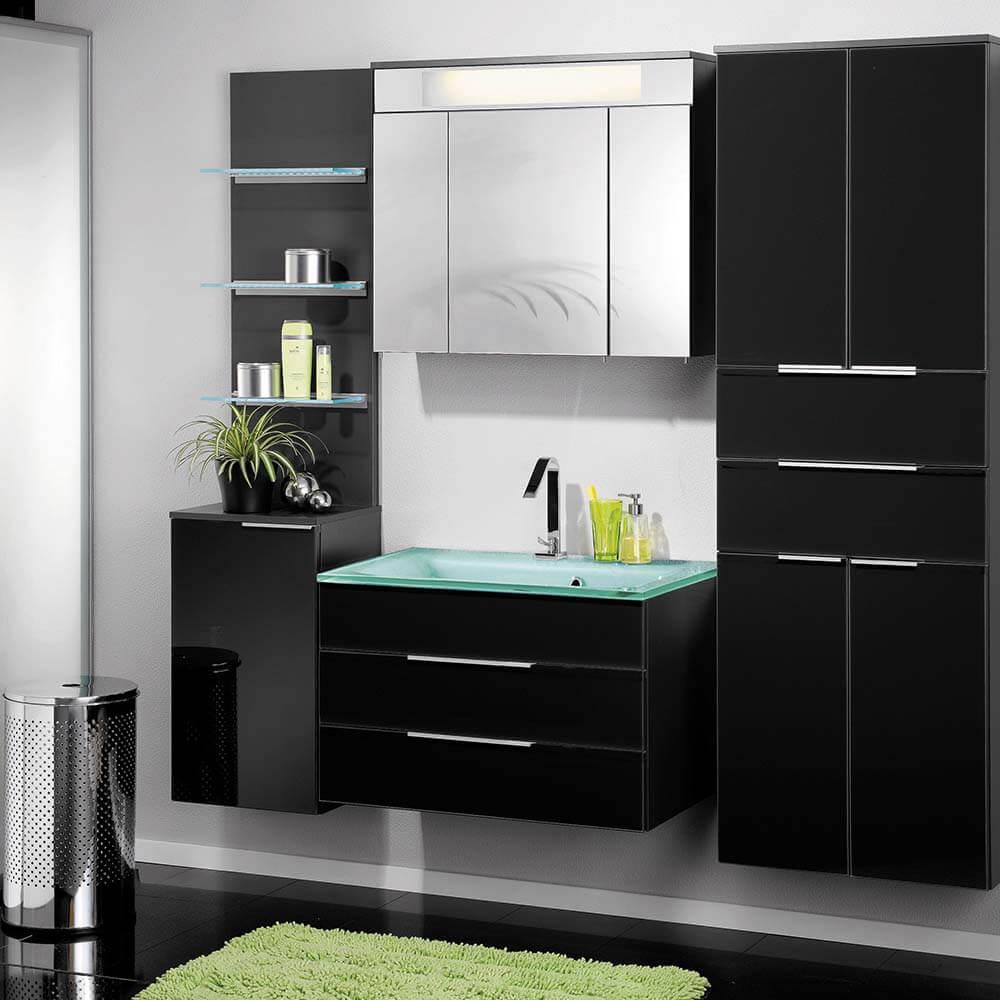fackelmann glas waschbecken mintgr n mit led beleuchtung 86296 creativbad. Black Bedroom Furniture Sets. Home Design Ideas