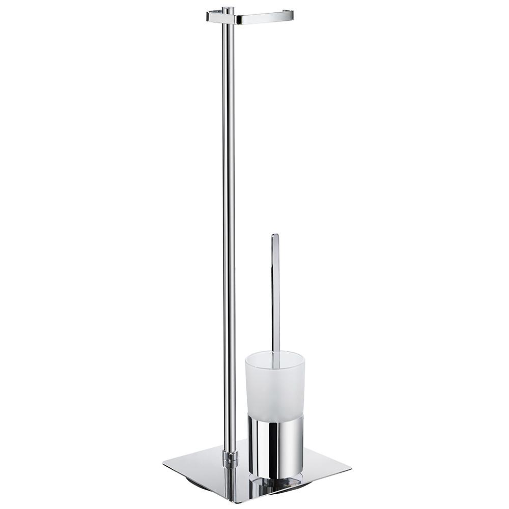 smedbo outline toilettenpapierhalter mit wc b rste glas. Black Bedroom Furniture Sets. Home Design Ideas