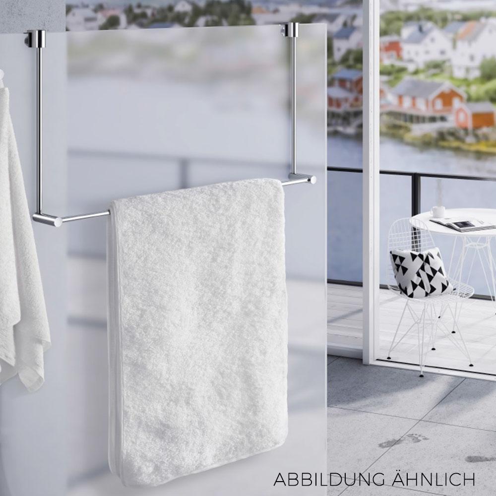 Smedbo Sideline Handtuchhalter für Glasduschwand doppelt