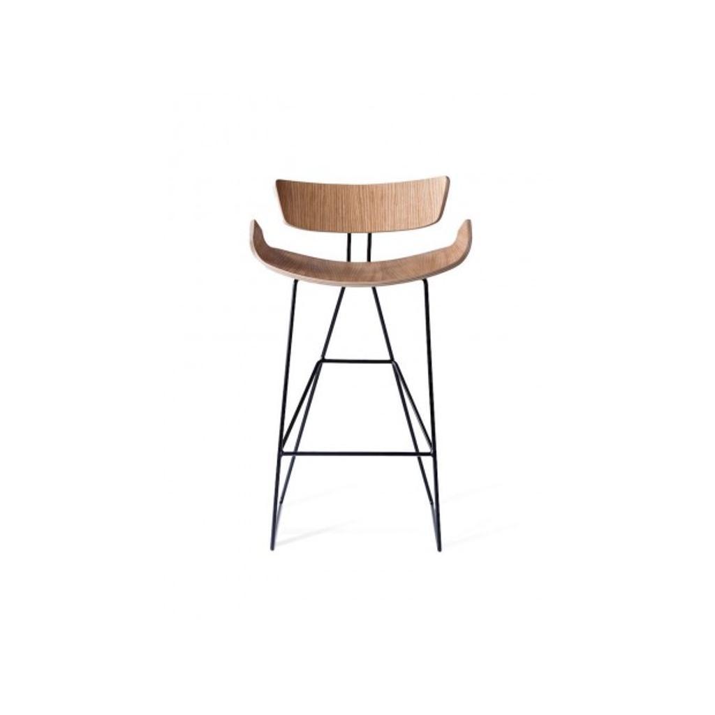 Designer Barhocker Ray Aus Holz Und Metall