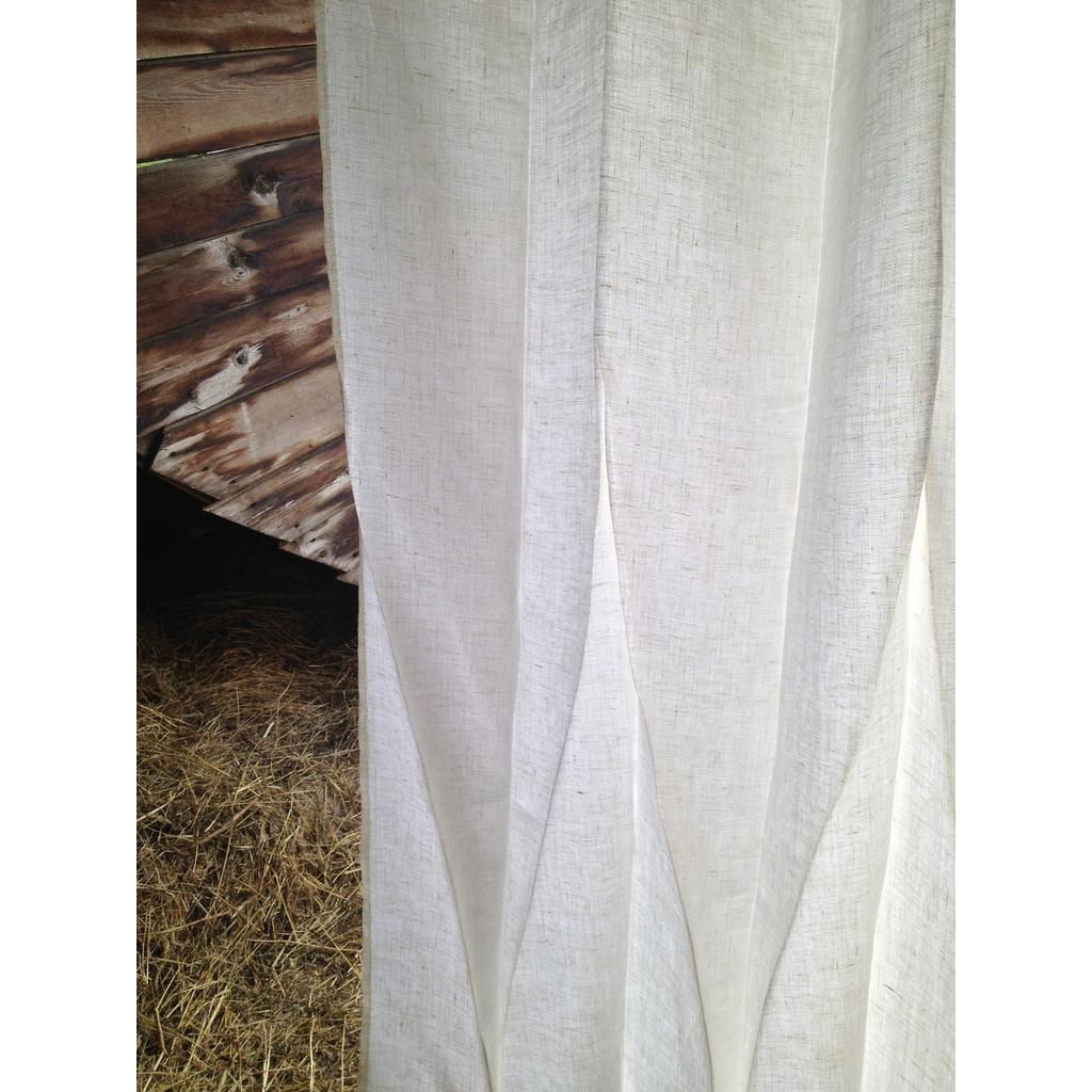 moderne gardinen vorh nge aus leinen 230 cm wei. Black Bedroom Furniture Sets. Home Design Ideas