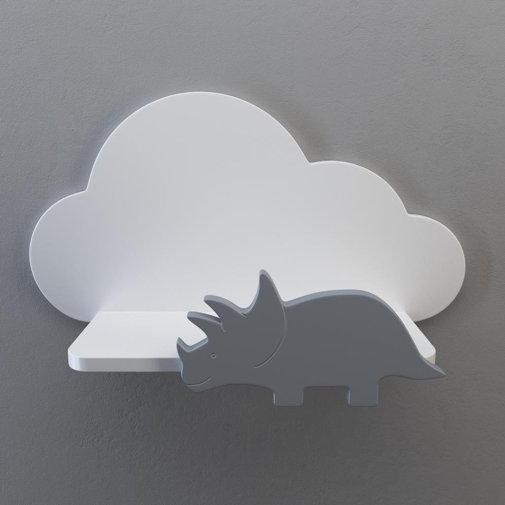 Design Wandregal Kinderzimmer Wolke Dino