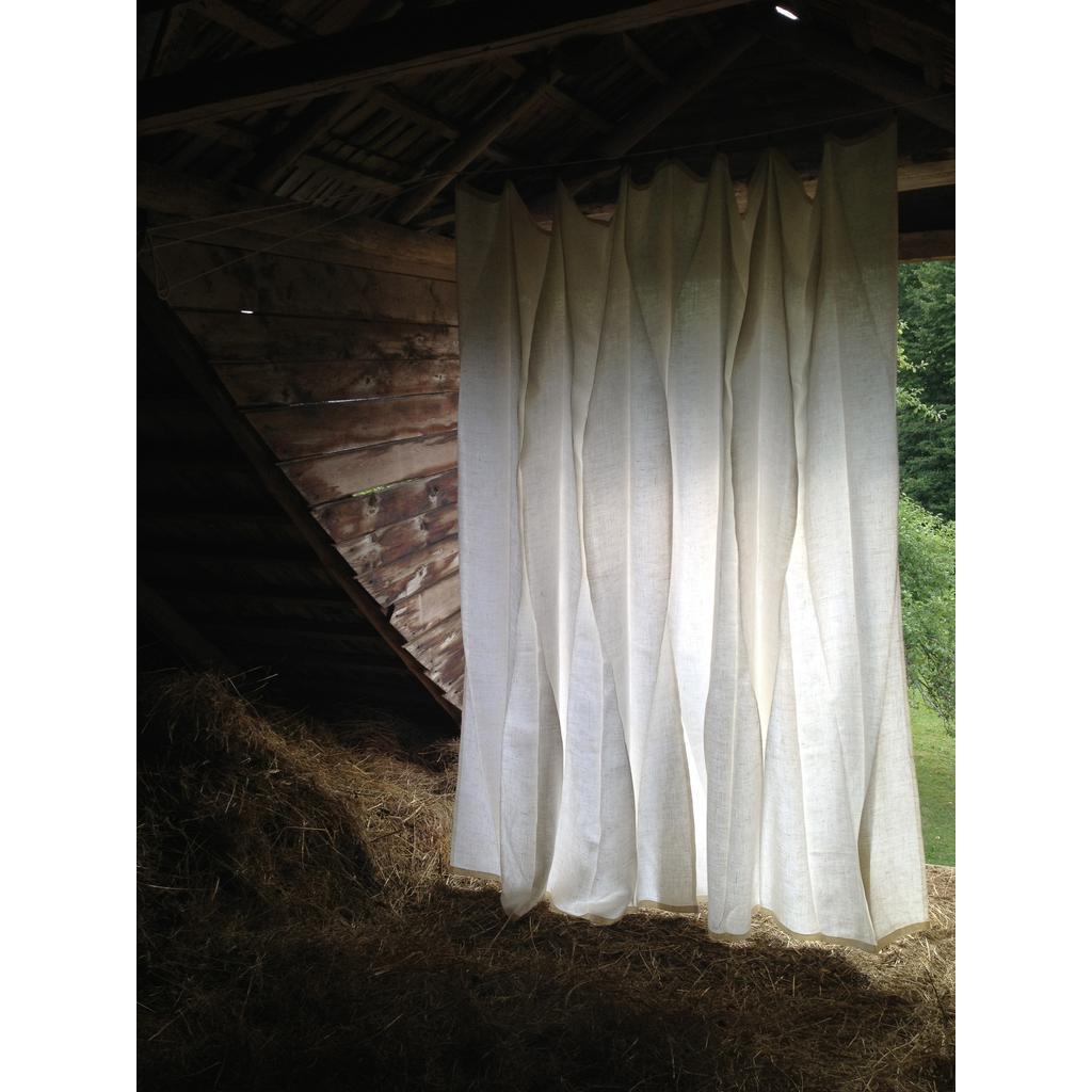 Leinen Vorhang Galerie : Leinengardinen cm weiß