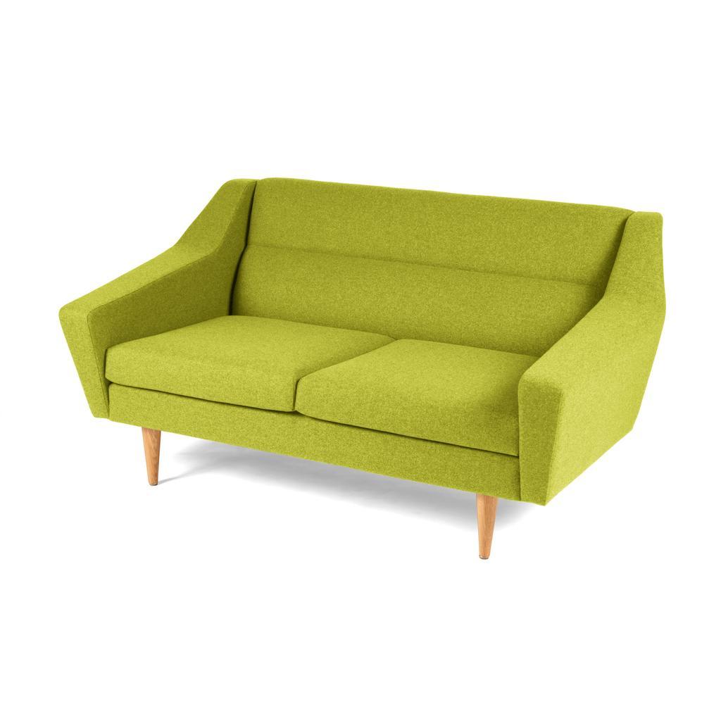2 Er Sofa Cosmo Im Retro Look Limettengrün