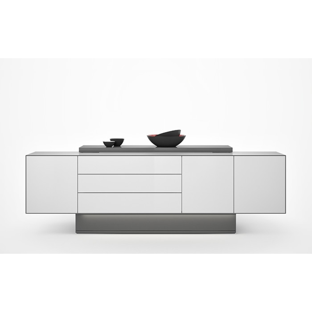 bachmayer gmbh 127302 meisterm bel tv sideboard wei schwarz meistermoebel kaufen smartfurniture. Black Bedroom Furniture Sets. Home Design Ideas