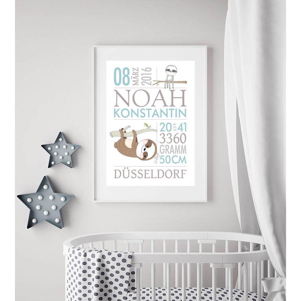 Geschenk Baby Zur Geburt Taufgeschenk Faultier Baby Geschenke