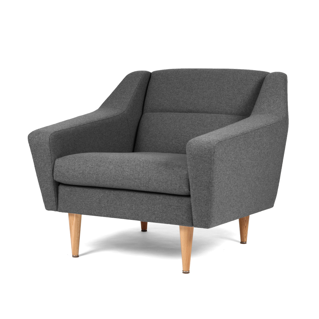Lounge-Sessel skandinavisches Design grau