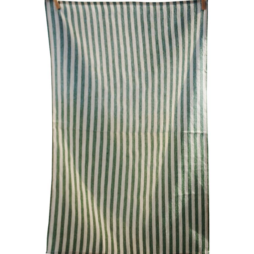 Geschirrtücher aus Leinen & Baumwolle - grüne Streifen