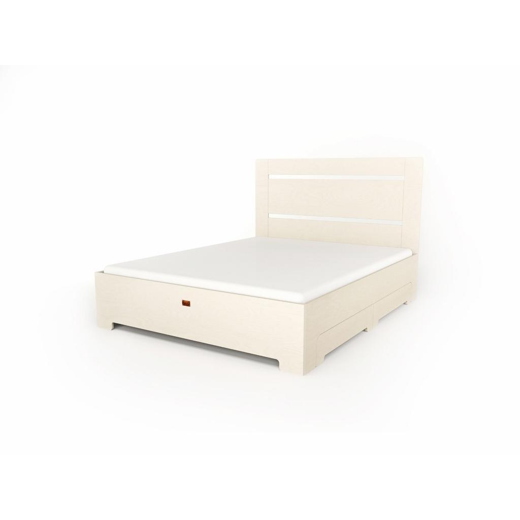 Bett tu l wei mit schubladen 140x200 cm for Bett mit schubladen 140x200