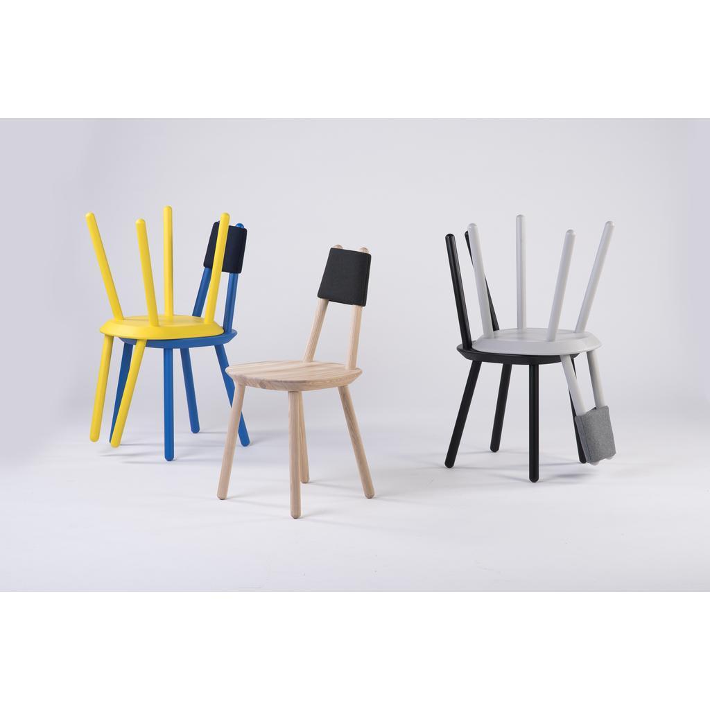 Designer-Stuhl Naive aus Massivholz - Blau - EMKO