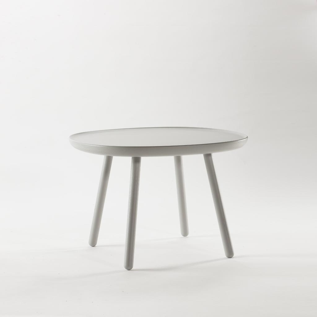 runder beistelltisch aus holz grau emko. Black Bedroom Furniture Sets. Home Design Ideas