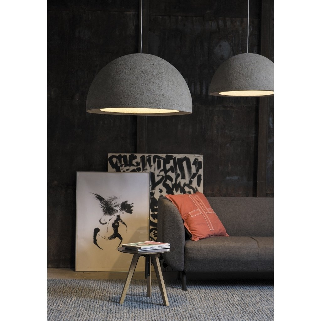 h ngeleuchte kabo grau in beton optik. Black Bedroom Furniture Sets. Home Design Ideas