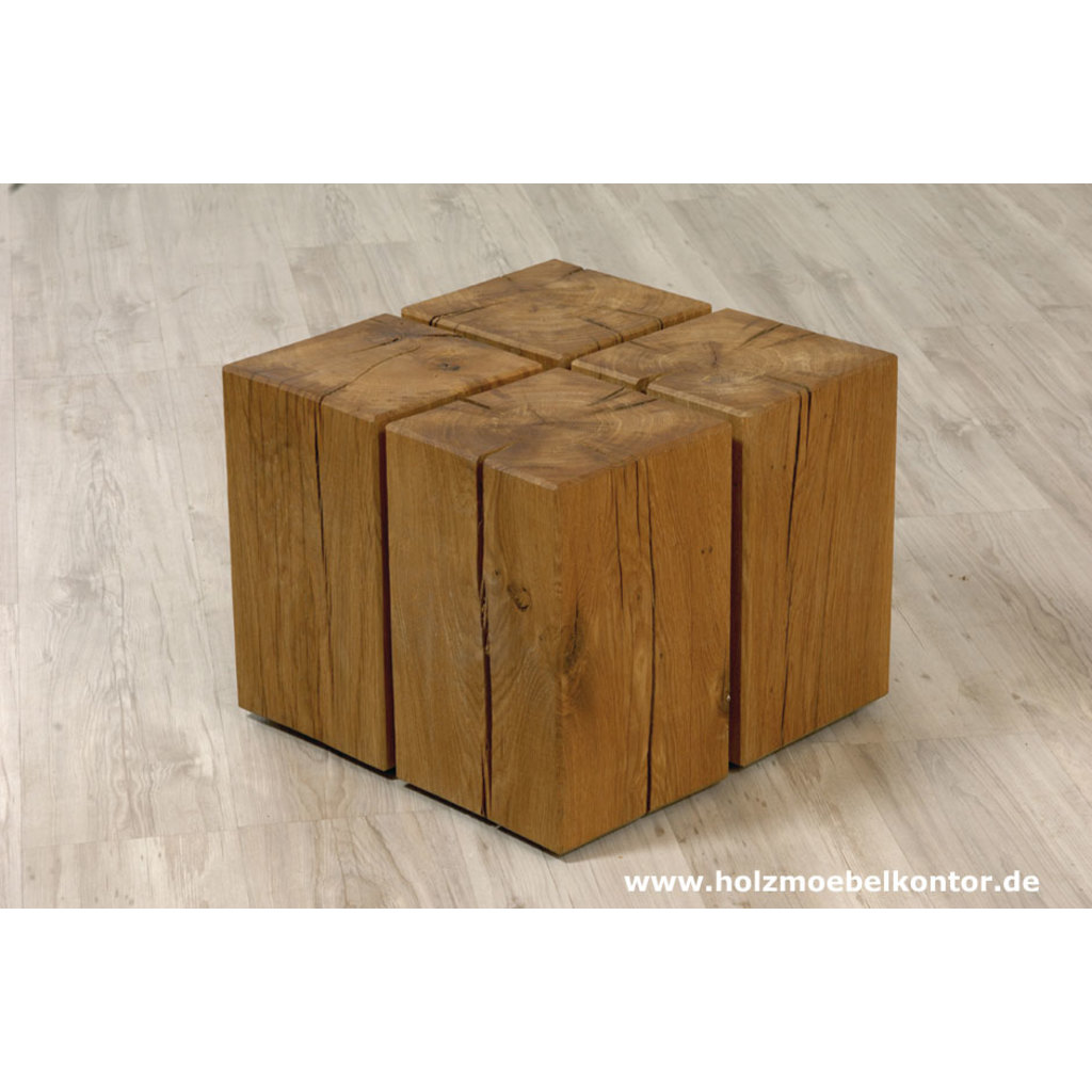 holzblock couchtisch auf rollen. Black Bedroom Furniture Sets. Home Design Ideas