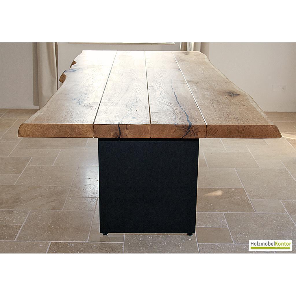 tisch eiche stammbohlen 7cm massiv. Black Bedroom Furniture Sets. Home Design Ideas
