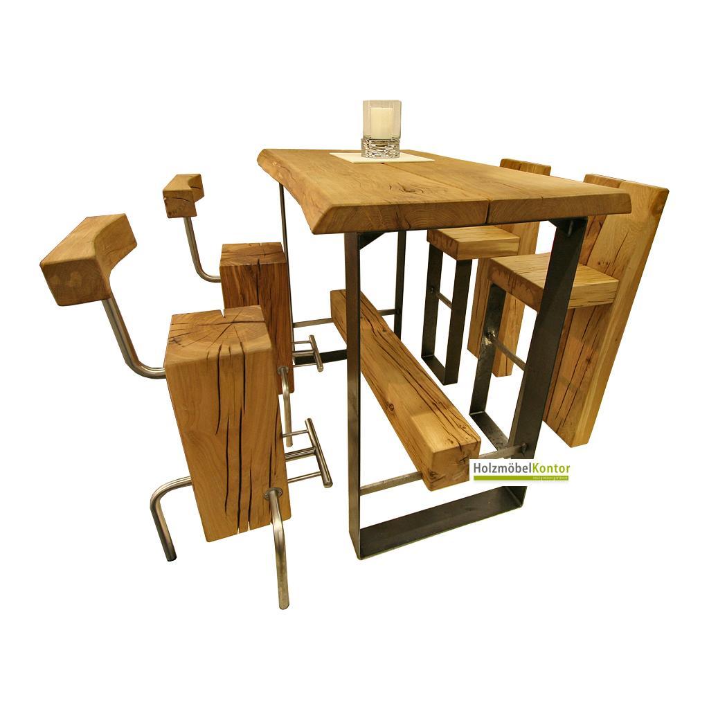 Bartisch und stehtisch voll holz for Tisch vollholz design