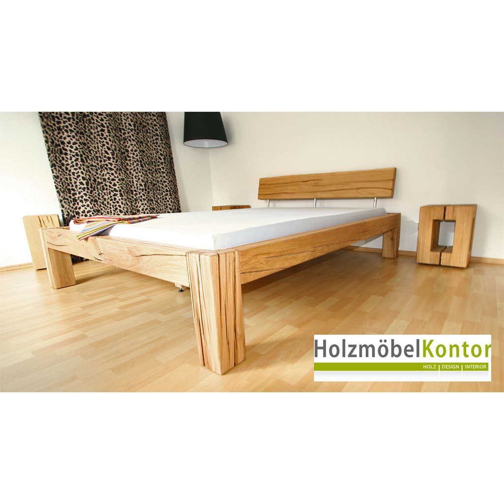 balkenbett eiche 140x200cm bett von. Black Bedroom Furniture Sets. Home Design Ideas