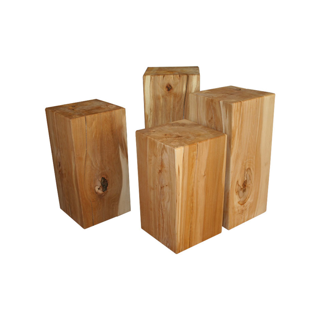 holzblock kernbuche massivholz klotz hocker buche. Black Bedroom Furniture Sets. Home Design Ideas