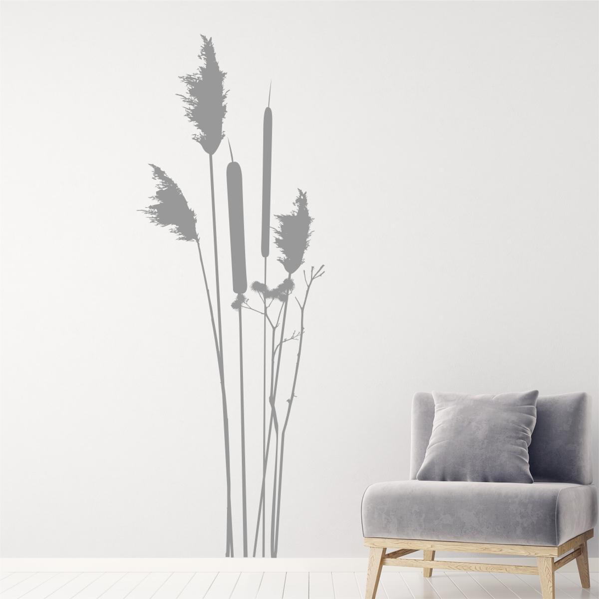 Künstlerisch Wandtattoo Gras Referenz Von Pflanzen Schilf