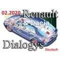 Renault Dacia Dialogys 02.2020 Applikation Programm 7.5.6 Version 4.91, sehr selten! Komplett in Deutsch