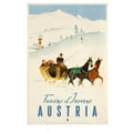 Austria. Fascino d'Inverno Advertising Poster 1950