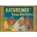 Advertising poster 1900 Kathreiner's Kneipp-Malz-Kaffee