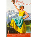 Advertising poster 1933 Ferien in Österreich