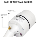 HD wall-mounted camera with totally invisible 940 nm infrared LEDs suitable