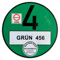 Environmental badge for foreign vehicles registrations