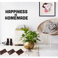 HAPPINESS IS HOMEMADE Wandsticker Spruch Typo