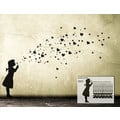 XL Wandtattoo Banksy Bubble Girl