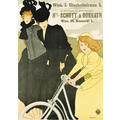 Advertising poster 1899 Schott und Donnath bicycles