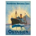 Advertising poster 1900 Hamburg-Amerika Linie