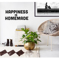 HAPPINESS IS HOMEMADE Wandsticker Typo Spruch