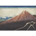 Thirty-six Views of Mount Fuji Thunderstorm below the peak of Mount Fuji
