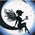 Fairy on the Moon - handwerkpakket met telpatroon Lanarte