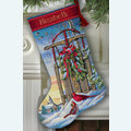 Christmas Sled Stocking - borduurpakket met telpatroon Dimensions
