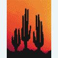 Three Cactusses in the Sunset - borduurpakket met telpatroon Nafra