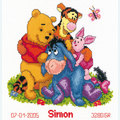 Winnie and Friends - Disney borduurpakket met telpatroon Vervaco