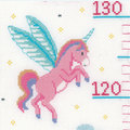 Growing Chart: Princess and Unicorn - borduurpakket met telpatroon Vervaco