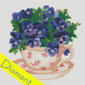 Flowers in the Cup  - Diamond Painting pakket - Diamond Art Pakket met vierkante diamantjes
