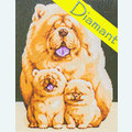 Fluffy Family - Diamond Painting pakket - Wizardi Pakket met vierkante diamantjes