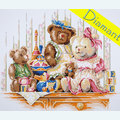 Bears and Toys - Diamond Painting pakket - Lanarte