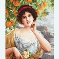 Beauty under the Orange Tree - kruissteekpakket met telpatroon Luca-S