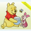 Winnie the Pooh and Piglet - Disney - Diamond Painting pakket - Vervaco
