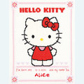 Hello Kitty - Alice - borduurpakket met telpatroon Vervaco