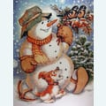 Kind Snowman - Borduurpakket met telpatroon Orcraphics