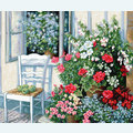 Flowers at the Window - borduurpakket met telpatroon Luca-S