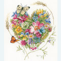 A Heart of Flowers by Marjolein Bastin - borduurpakket met telpatroon Lanarte