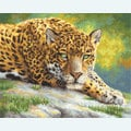 Peaceful Jaguar - borduurpakket met telpatroon Letistitch