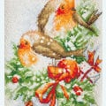 Birds Christmas Stocking - borduurpakket met telpatroon Luca-S
